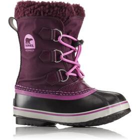 Sorel Yoot Pack Nylon Botas Niños, purple dahlia/foxglove
